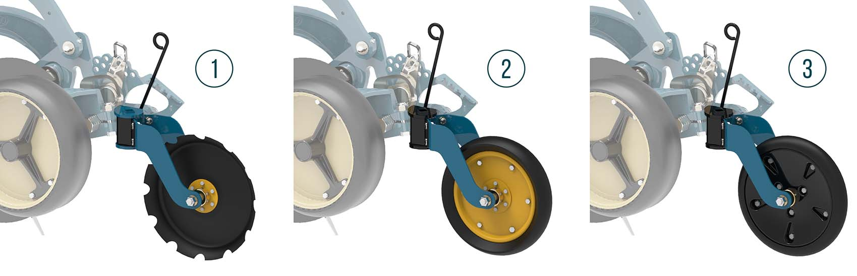 Equalizer No-Till Disc Seeder Closing wheels options | www.equalizer.co.za