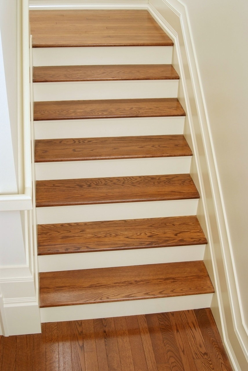 Vinyl Stairs Treads And Risers White Oak Stair Treads In 2019 | Hardwood Stairs With White Risers | Pine | Tread | Trim | Hardwood Flooring | Before And After