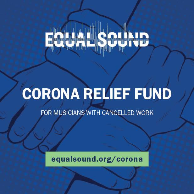 Equal Sound Corona Relief Fund flier with stolen background art