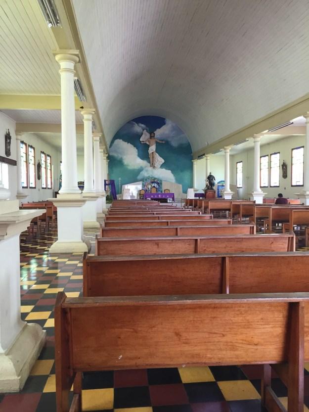 La Iglesia en el pueblo de La Fortuna