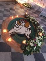 Symbol of the Year of Mercy recreated out of sand...Cordero de Dios, ten piedad de nosotros! (Lamb of God, have mercy on us!)