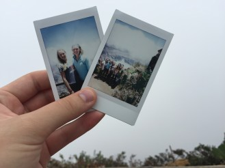 Anna brought her Polaroid (thanks for sharing this little treasure with me!) Also, beyond those clouds is the volcano, believe it or not! Taken in almost the same spot.