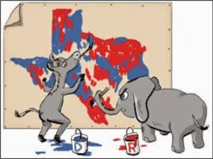 gerrymandering donkey and elephant