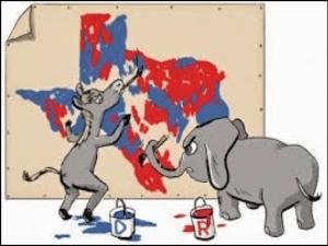 gerrymandering donkey and elephant
