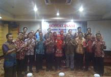 Foto bersama usai Sosialisasi Gerakan 1 Rumah 1 Jumantik (G1R1J) oleh Dinkes Kalbar di Hotel Kini Pontianak