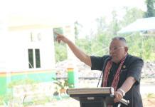 Resmikan Pabrik. Bupati Kubu Raya, H Rusman Ali meresmikan pabrik kelapa sawit di Desa Teluk Bakung, Kecamatan Sungai Ambawang, Selasa (20/3). Humas for Rakyat Kalbar