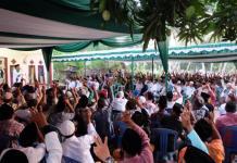 Calon Gubernur Kalbar nomor urut tiga Sutarmidji hadir dalam Silahturahim dan buka puasa bersama Ratusan warga Mempawah Timur, Kabupaten Mempawah . (Kang Enchus for Equator)