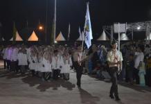 Kafilah KKU. Barisan kafilah Kayong Utara yang siap berlaga pada lomba MTQ Tingkat Provinsi Kalbar ke-XXVII di Kabupaten Mempawah, baru-baru ini. Humas for Rakyat Kalbar