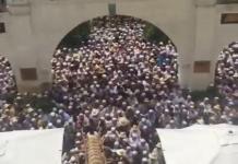 ULAMA BESAR. Ratusan ribu umat Islam mengiring jenazah ulama besar di Tiongkok yang wafat. Warga for Disway