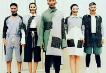 UNTUK PEMOTRETAN. Beberapa rancangan Abdul Hadi yang dipakai untuk pemotretan. Abdul Hadi for eQuator.co.id