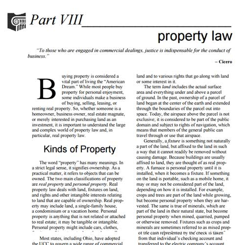 OSBA Law You Can Use - Property Law
