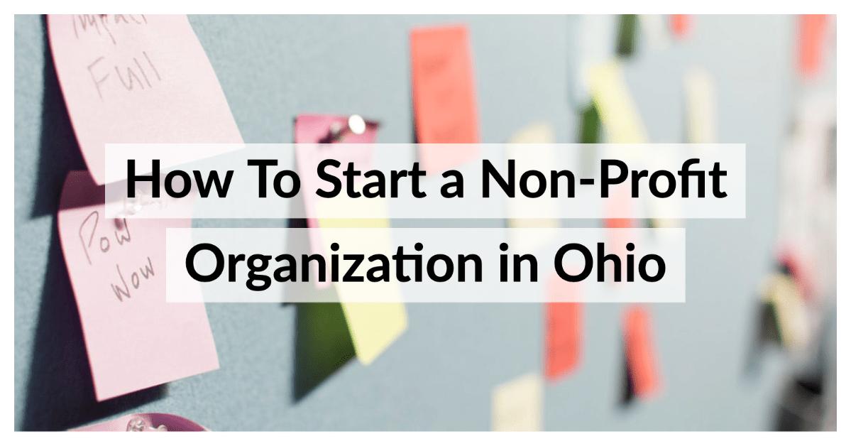 Starting a Non-Profit Organization in Ohio