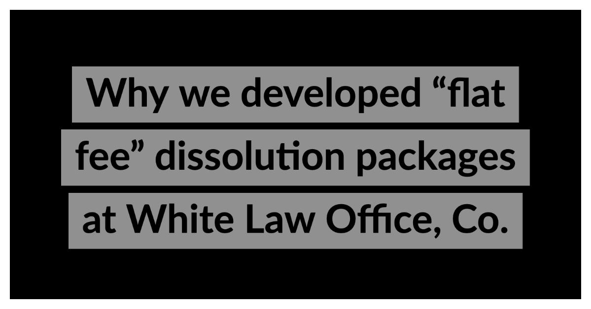 flat fee dissolution