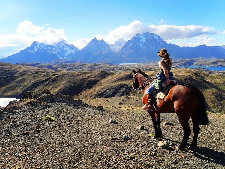 Enjoying the Gaucha life with a stunning view of the Torres Del Paine mountains