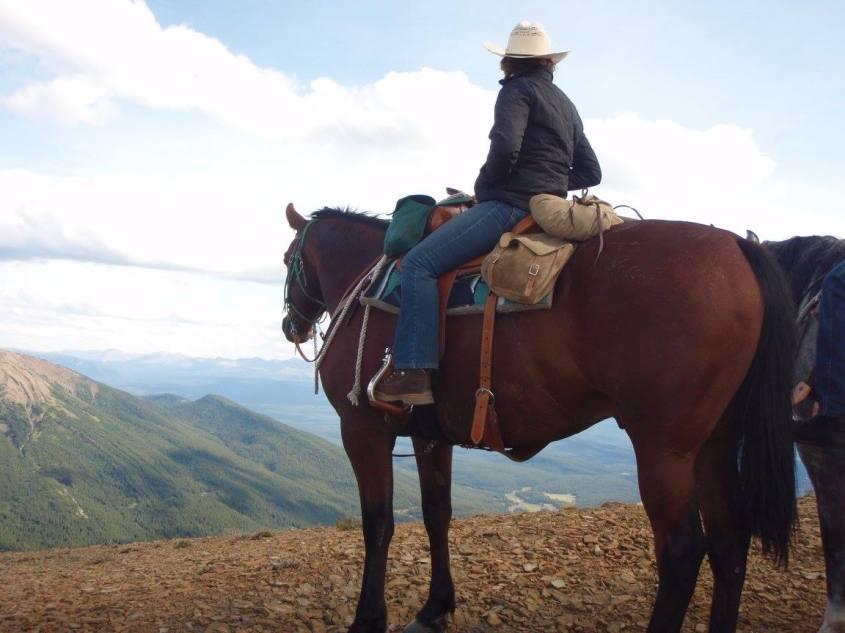 Jessica Kosheiff enjoying a breathtaking view from horseback.
