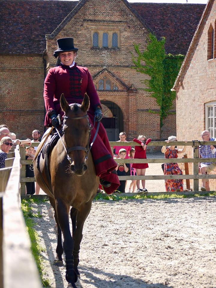 Historical re-enactment by Kate Vigurs riding a side saddle