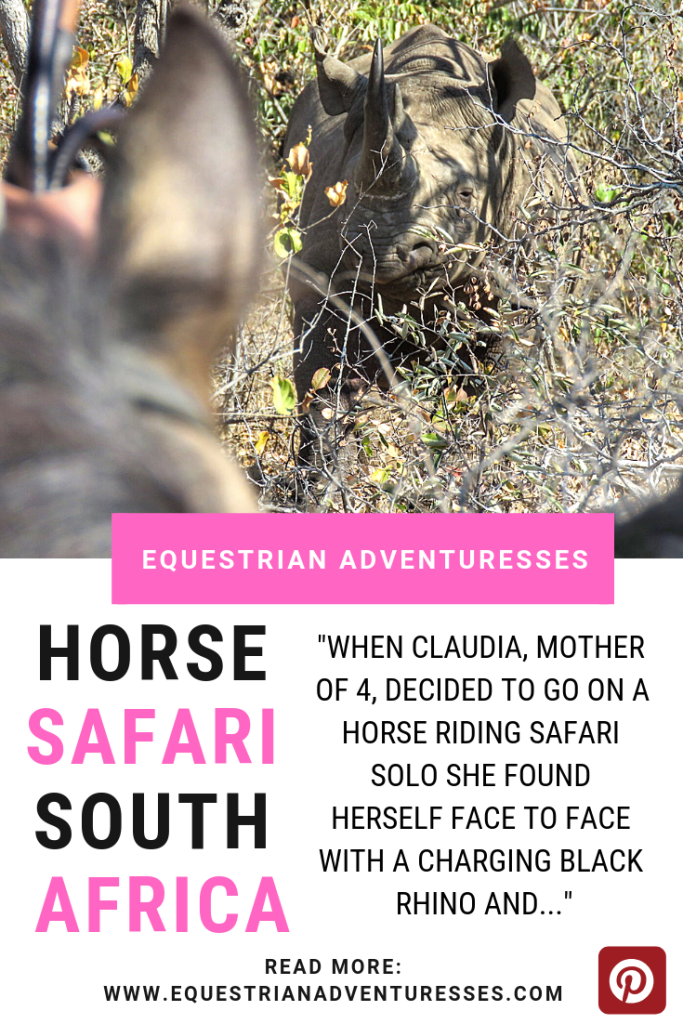 A horse riding safari in South Africa changed Claudia's life to the better.