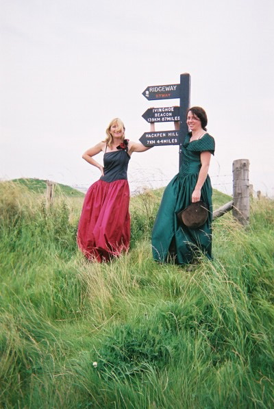 Ladies in ballroom dresses at the beginning of the Ridgeway