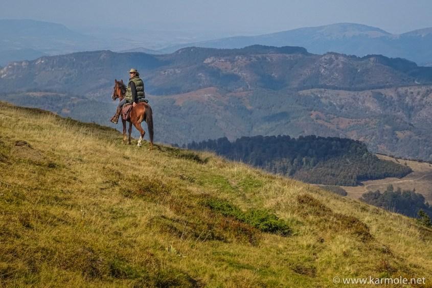 The Balkan mountains in Bulgaria on horseback.