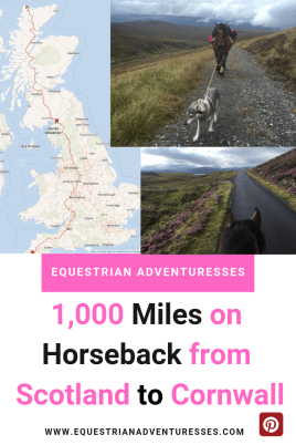 A Long Rider's Guild member is crossing a country on horseback
