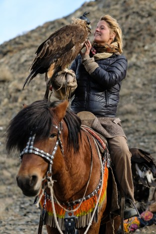 When I met the Eagle Hunters in Mongolia I came an Eagle Huntress