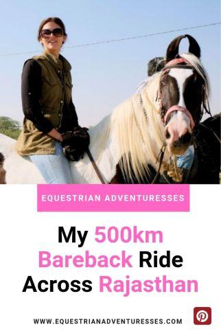 bareback horse riding across Rajasthan - Pinterest