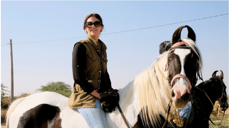 riding bareback on Sapna