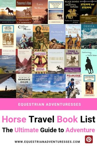Pinterest pin for Horse Travel Book List