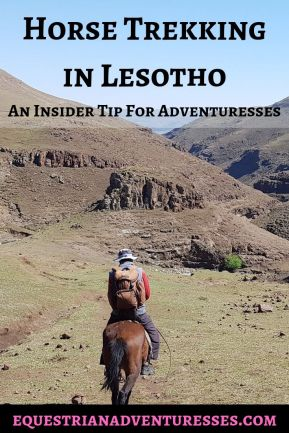 Pinterest Pin for the article: Horse Trekking in Lesotho - An Insider Tip For Adventuresses