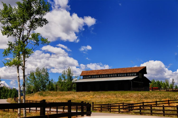 a historic barn converted into a weekend getaway on the ranch in Colorado
