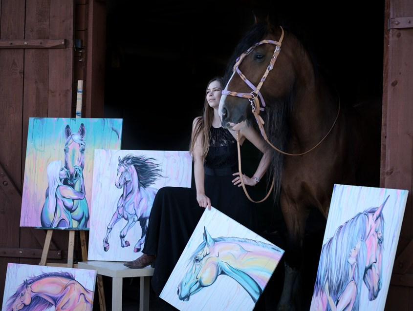 how to heal with a horse from an autoimmune disease and make money selling your horse paintings