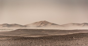A view of a big dune in the an erg in Morocco