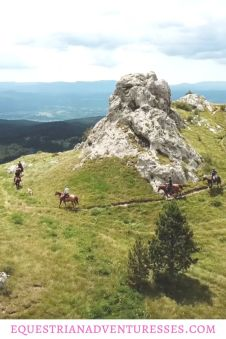 Pinterest Pin for article: A hidden gem - Horse Riding in Slovenia