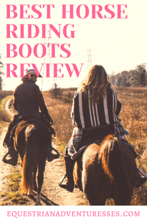 Pinterest Pin: Best horse riding boots review for Trail, Endurance and Long Distance
