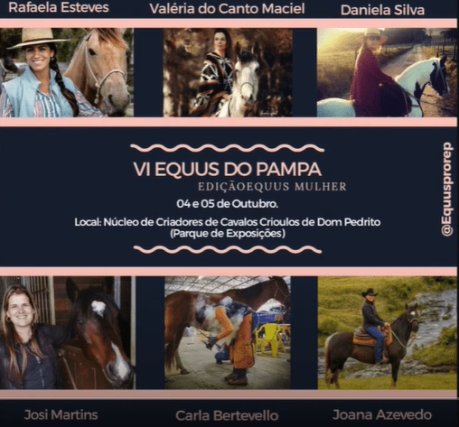 The flyer for the university event for Equine Industry: Interviews with Empowered Women