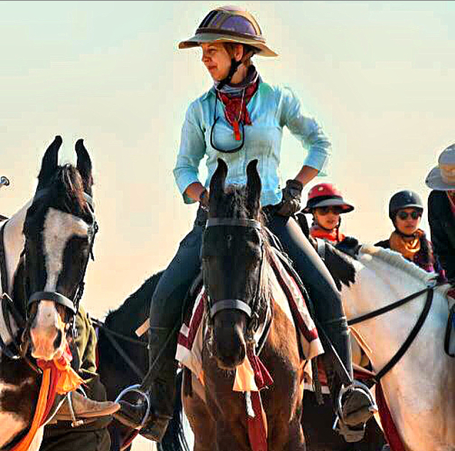 Caroline Moorey has promoted the Marwari horse by organising private safari groups all over Rajasthan for the last 15 years