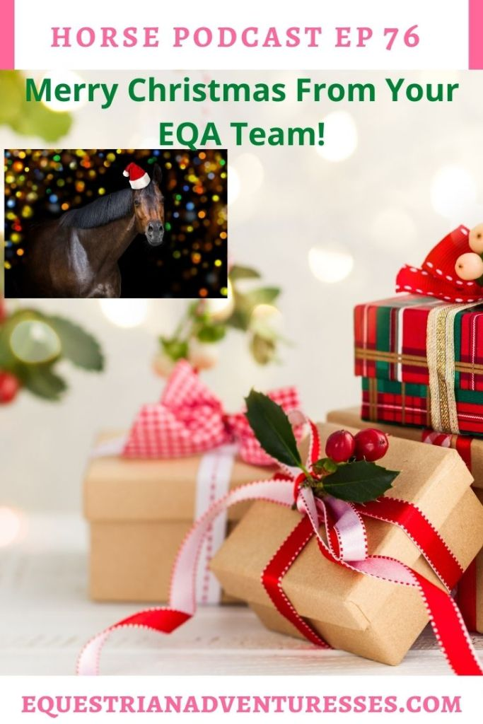 Horse and travel podcast pin - Ep 76 Merry Christmas from your EQA Team