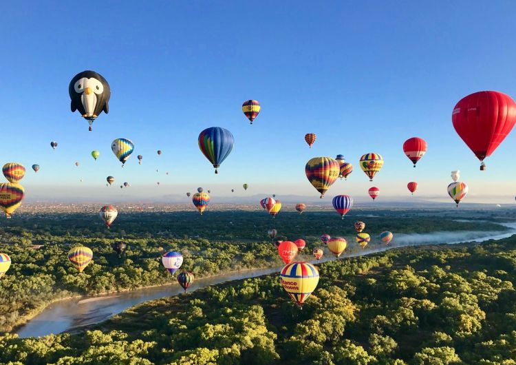 The Balloon Fiesta is an incredible event and amazes many visitors every year