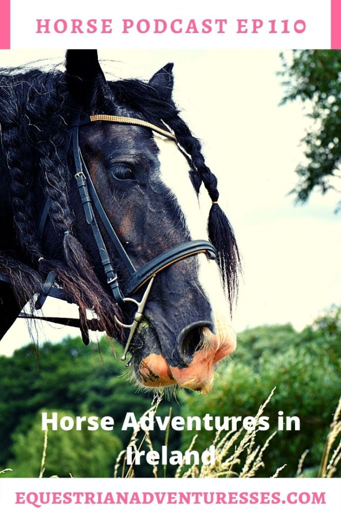 Horse and travel podcast pin - 110: Horse Adventures in Ireland