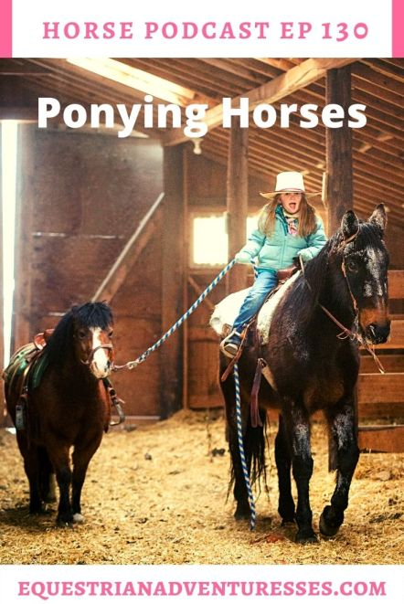 Horse and travel podcast pin - Ep 130 Ponying Horses
