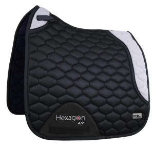 Hexagon Air Mesh 3D - Dressyrschabrak Svart