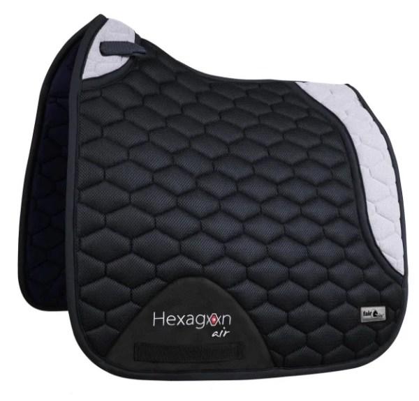Hexagon Air Mesh 3D - Dressyrschabrak Svart