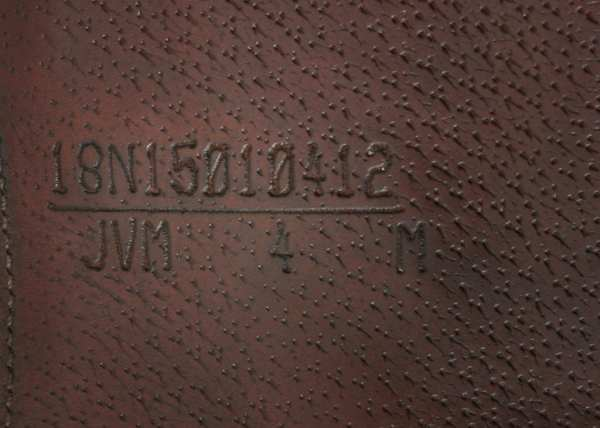 Flap Stamp on Amerigo Vega MF Jump Saddle 18M SN: 15010412