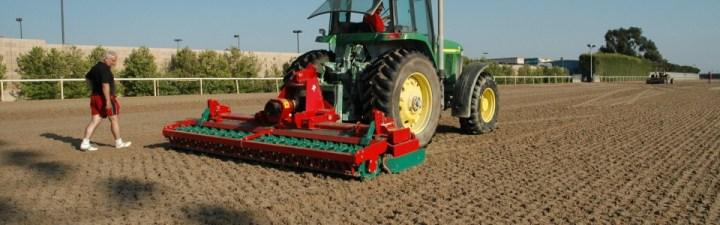 Tractor and Power harrow