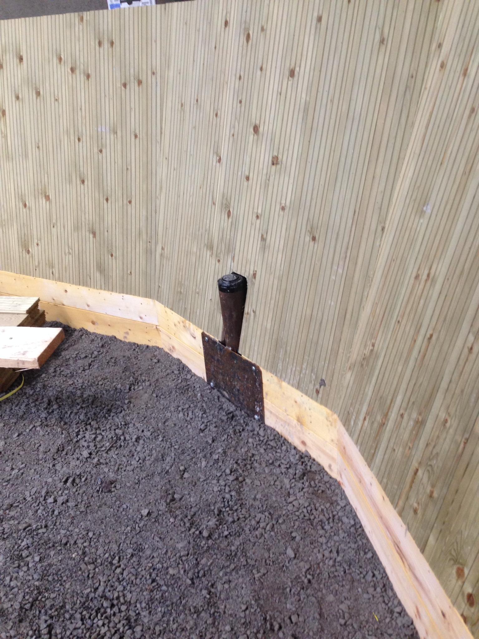 Irrigation head in corner