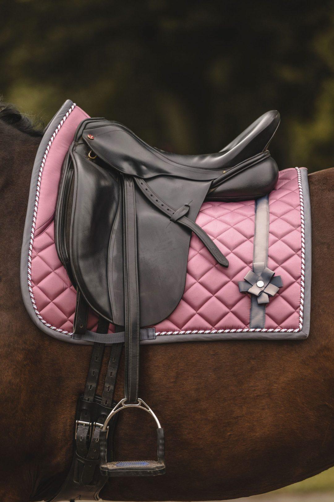 pink bow dressage saddle pad