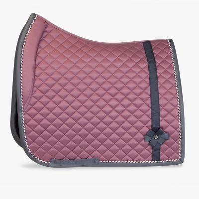 bow dressage saddle pad pink