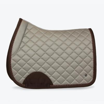 Latte brown suded saddle pad