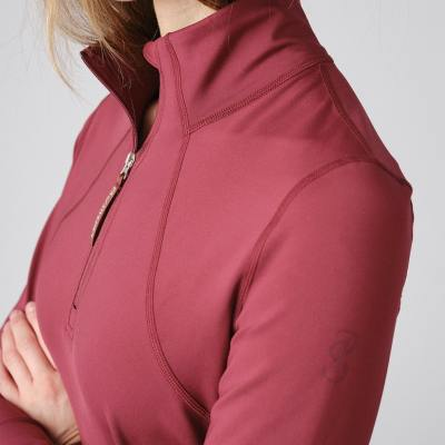 base layers berry red womens