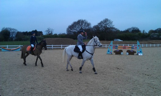 Team Equihunter Rider Libby Newman Competing at Brook Farm in Essex